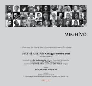 Máthé András: A magyar kultúra arcai kiállítás