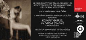 Kosmály Gabriel Válogatás 2014-2015 című kiállítása